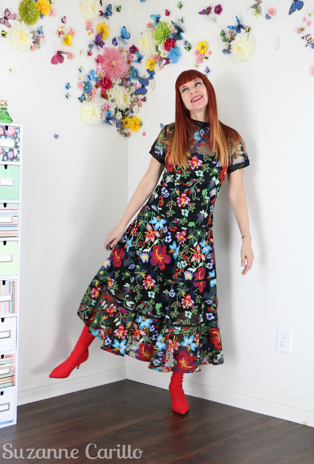 anthropologie floral garden dress suzanne carillo