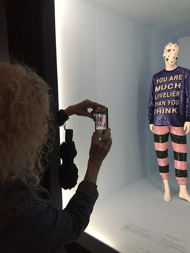 patti taking photo nyc camp exhibit 2019 the met nyc