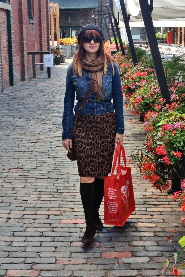 shopping at the distillery district