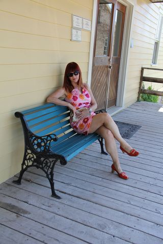 On bench