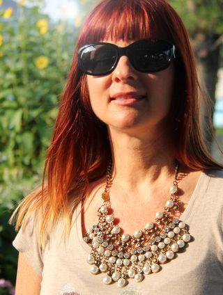 Rhinestone jeweled necklace anthropologie