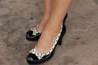 Black polk-a-dot aerosoles shoes