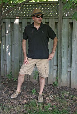 Lacost shirt tommy hilfiger shorts banana republic hat front