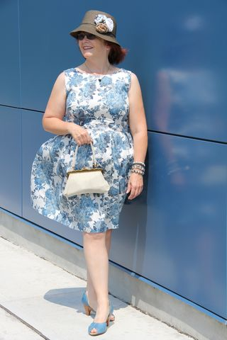 Blue white floral dorothy perkins dress