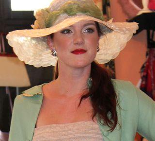 Mint cream hat