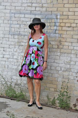 Bright floral dress