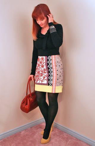 Graphic anthropologie skirt