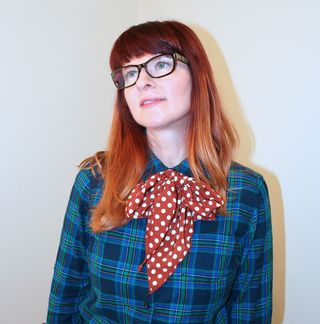 Mod cloth polka dot scarf firmoo glasses