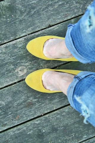 Yellow forever 21 suede pumps