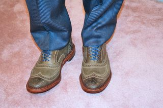 Moss green mens shoes