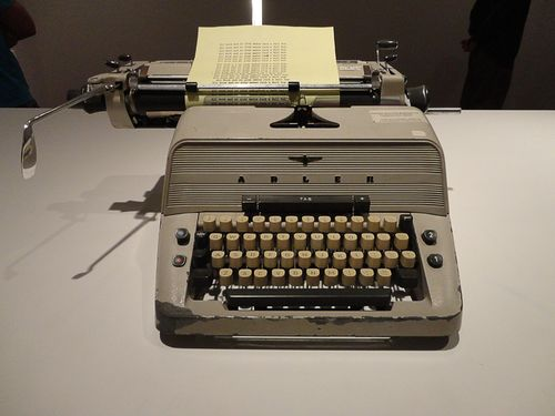 Shining typewriter