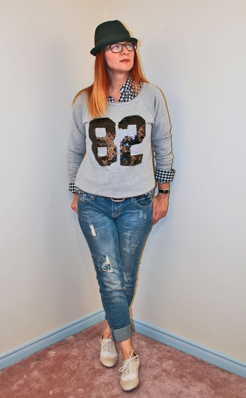 Sequin sweatshirt forever 21