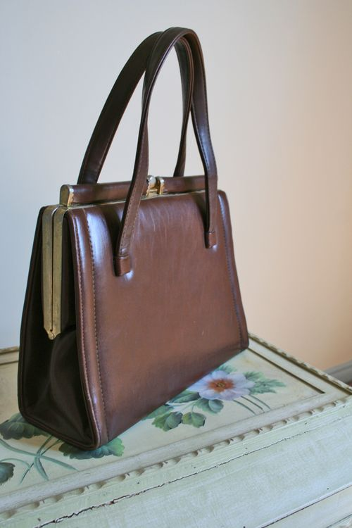 Brown vintage handbag