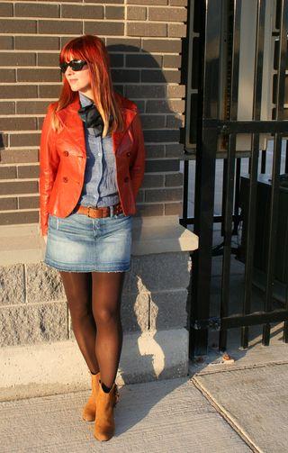7 for all mankind jean mini skirt