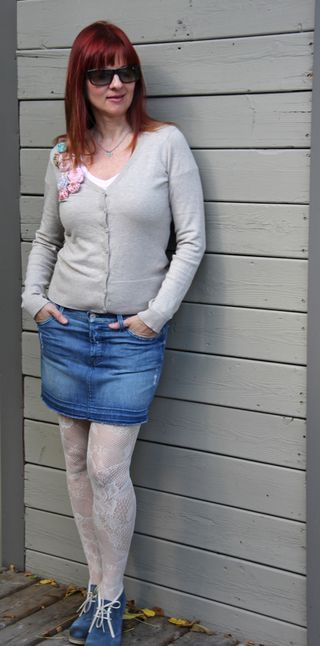 Fashion tights sweater