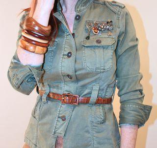 Army jacket bangles