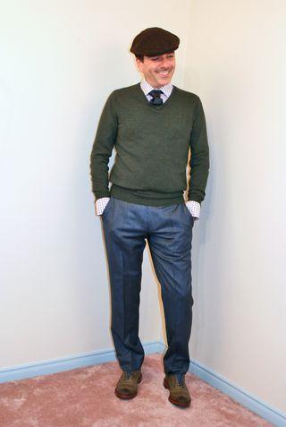 Jcrew green merino wool sweater
