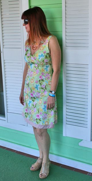 Floral green dress antigua