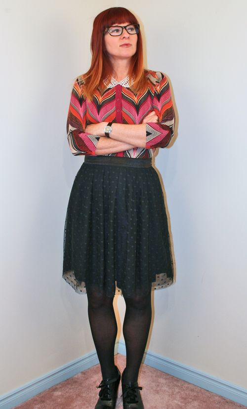 Chevron striped cardigan Anthropologie
