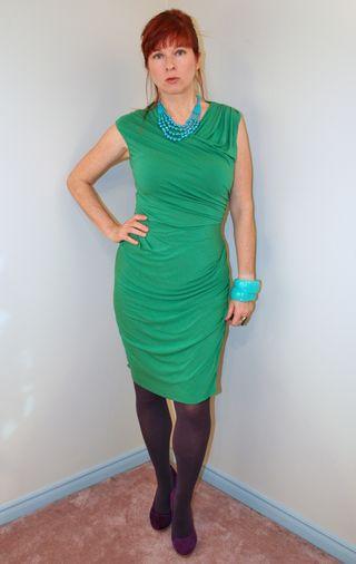 Green anthropologie jersey dress