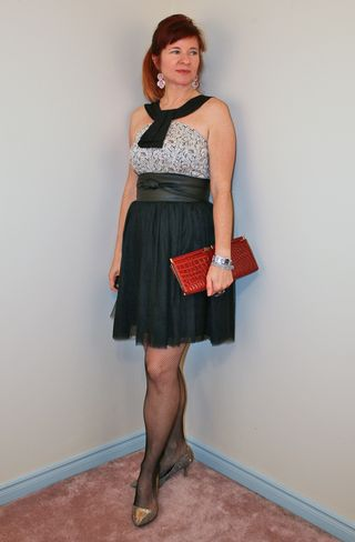 Black tulle skirt fitted anthropologie top