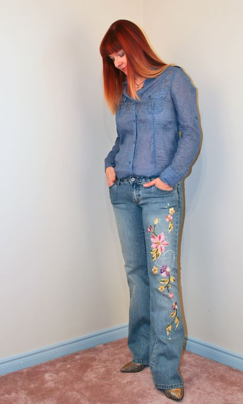 Sequin jeans