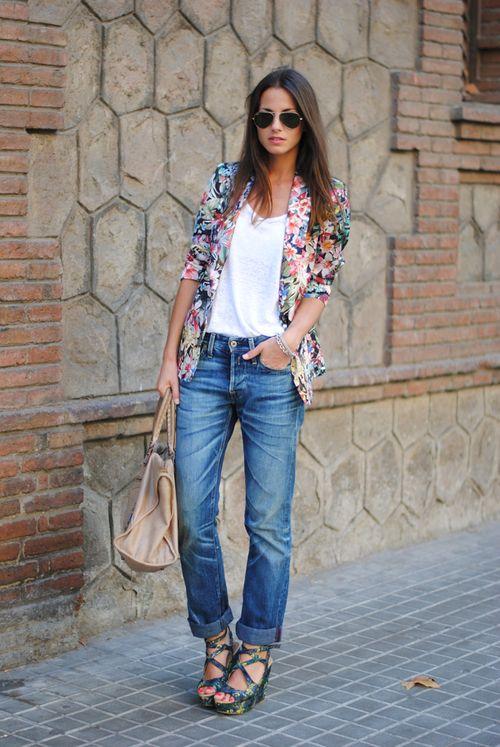 Fashion vibe floral blazer