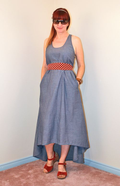 High low chambray dress maxi dress