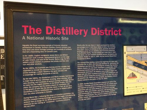 Distillery district historic site