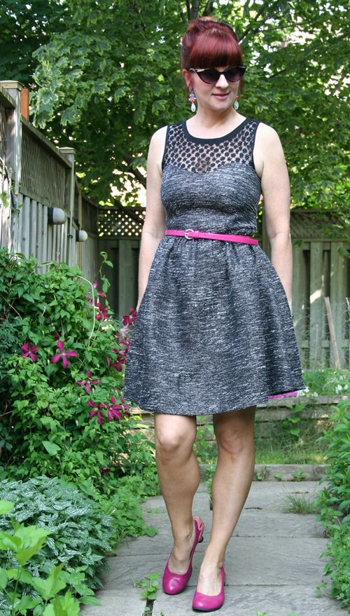 Grey and black dorothy perkins dress