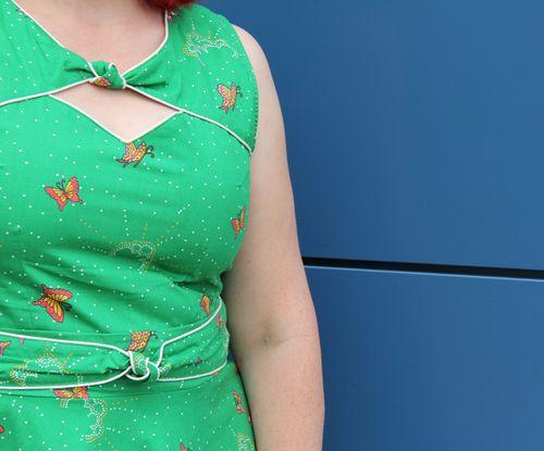 Green mod cloth butterfly dress