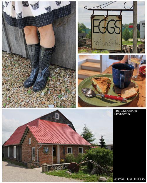 Polka dot rubber boots