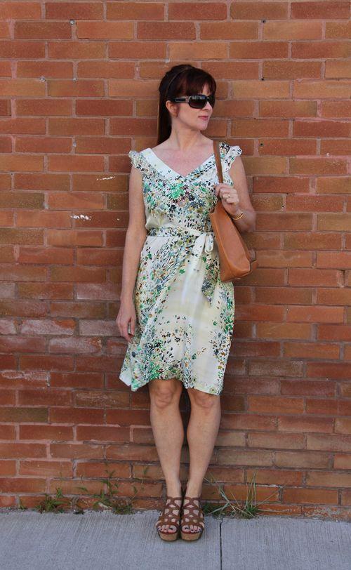 Tristan floral silk dress