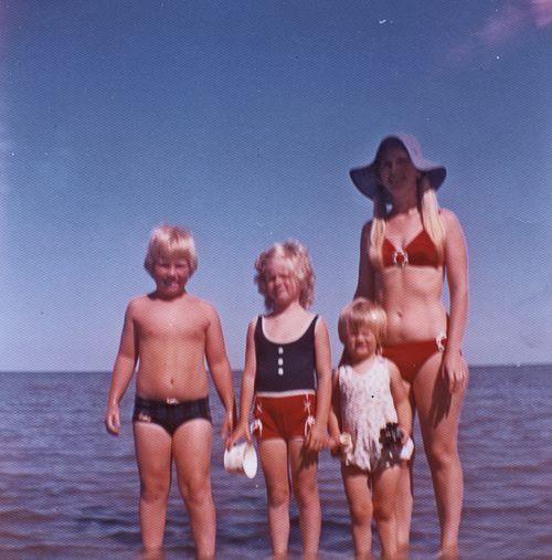 Mom and three kids