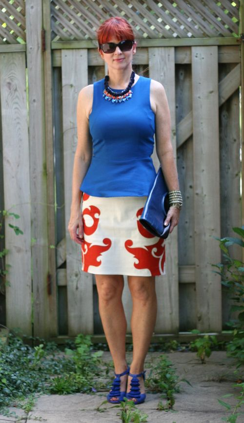 Zara blue peplum top