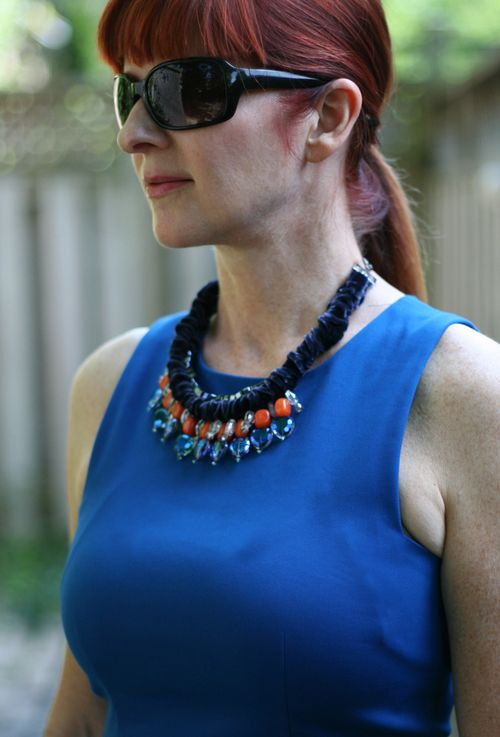 Handmade jewelled necklace