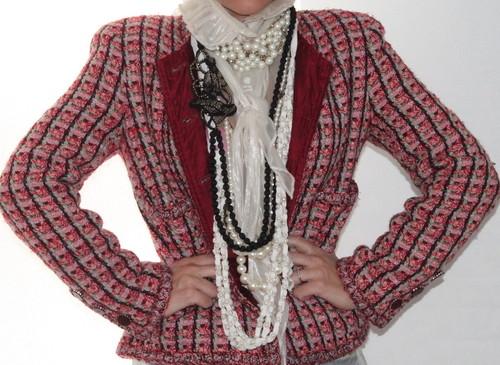 Pink tweed chanel jacket