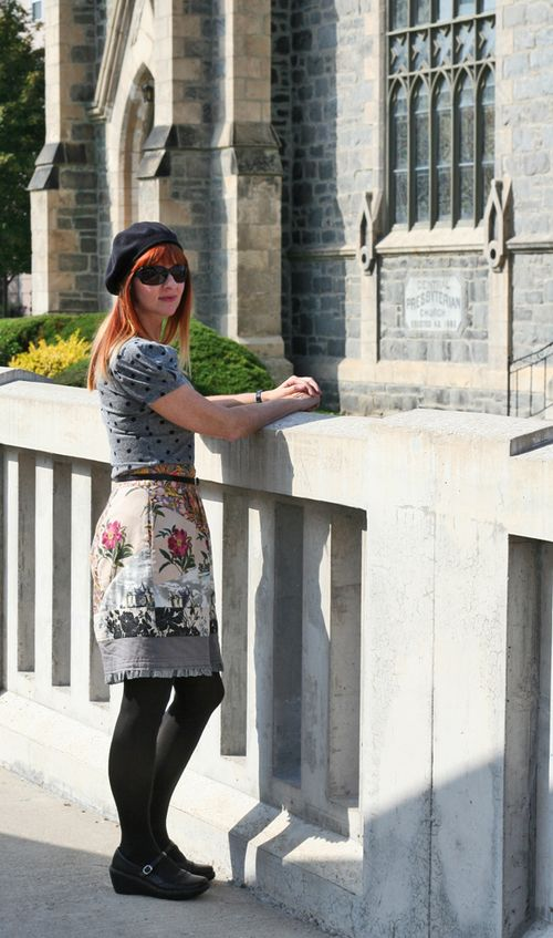 Quilted anthropologie skirt