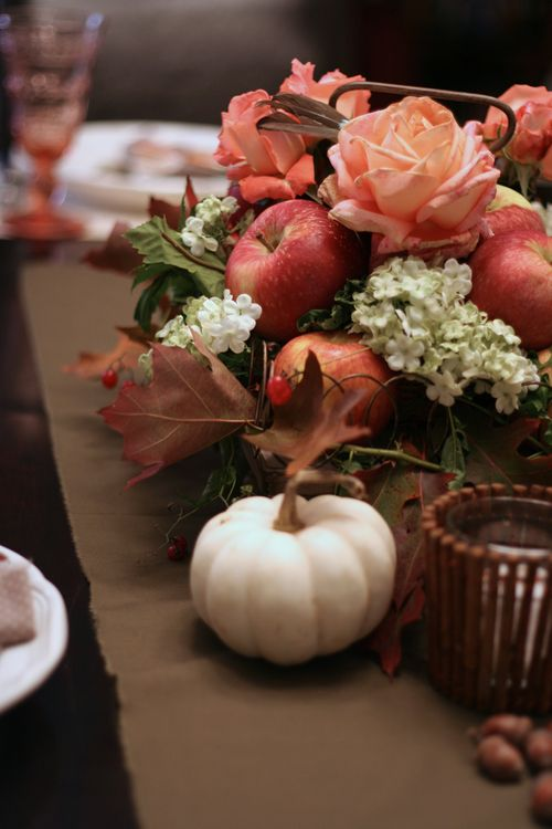 Thanksgiving floral centerpiece