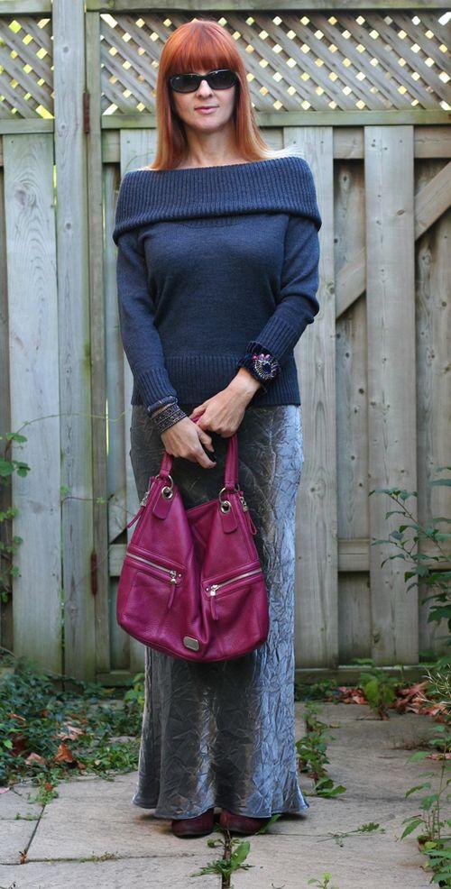 Magenta handbag