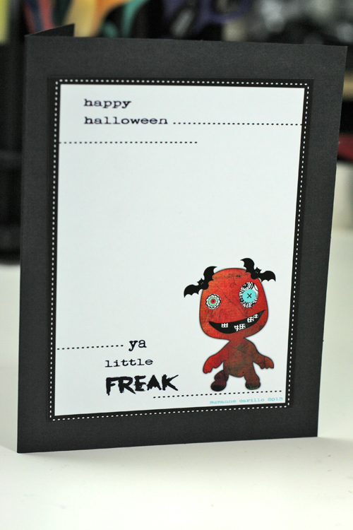 Halloween card little freak 2