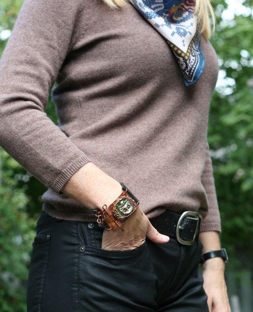 Owl handmade copper cuff