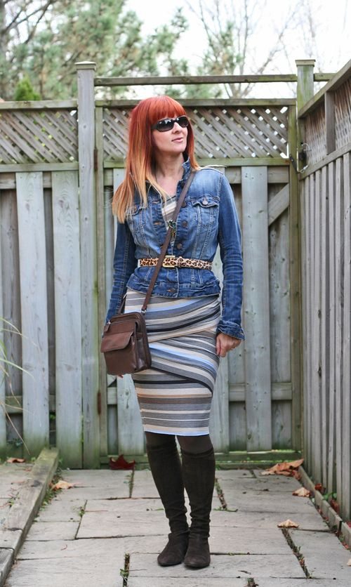 Jean jacket bandaid dress