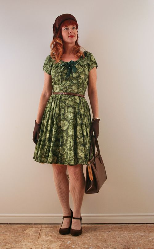 Brown and green vintage outfit