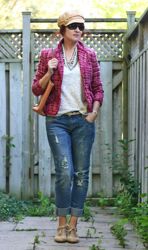 Pink chanel tweed jacket thrift store shopping tips.