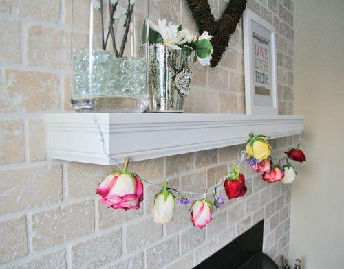 How to make a fresh rose garland