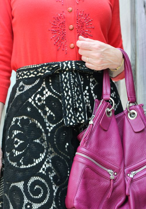 How to wear clashing colours orange and magenta