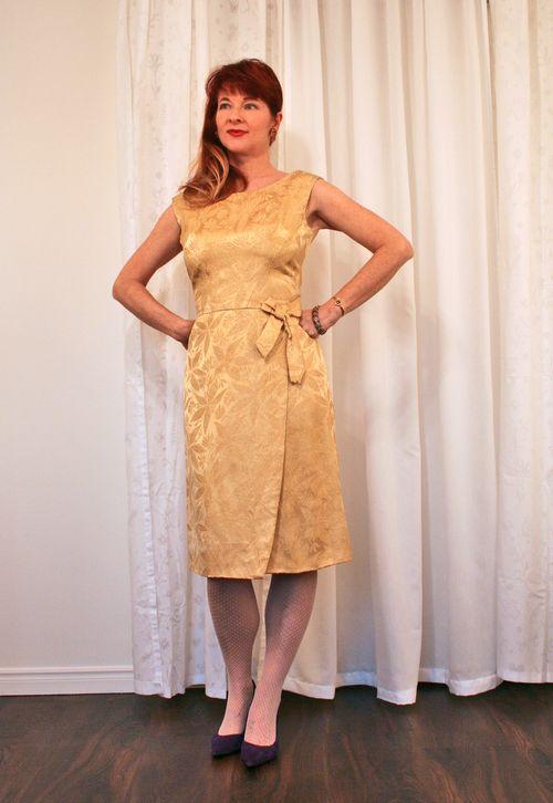 Brocade vintage cocktail dress