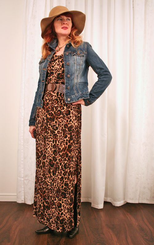 Kasper leopard maxi dress