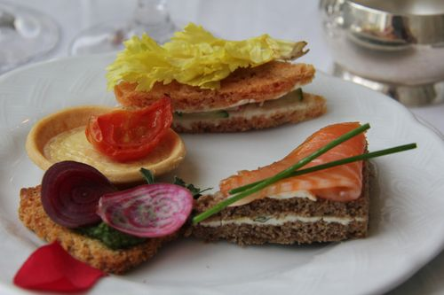 High tea sandwiches